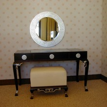 Kdt-001 Antique European style dark brown dressing table