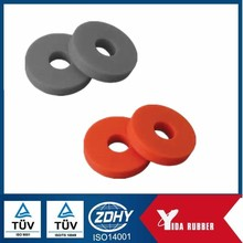 Factory custom molded rubber washer, flat rubber gakset, FKM round rubber gasket washer