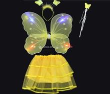 wholesale a set of Christmas gift LED El Angel wings Magic wand
