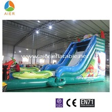 Top Sale amusement park equipment digital printing large inflatable water Slide for Adult