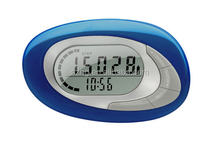 2014 new products 3D pedometers with time display,mini pedometer