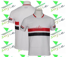 hot new products 15/16 football jersey sublimated soccer jerseys white color with red and black stripe soccer wear