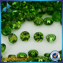 round shape brilliant natural stones diopside