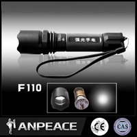 for outdoor search rescue hunting high power solar power rechargeable led flashlight