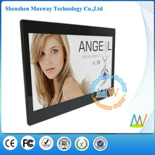 HD video display slim 13.3 inch multi functional digital photo frame with USB driver