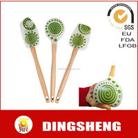 Silicone spatulas and utensils with wooden handle