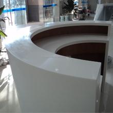 Flexible design solid surface Office Reception Counter Desk,Composite Acrylic counter desk, solid surface countertop