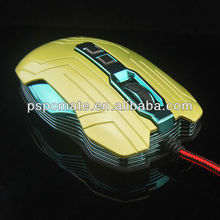 2.4GHz 1600 DPI Wired Professional Gaming Mouse Mice for PC Laptop 7D Red New