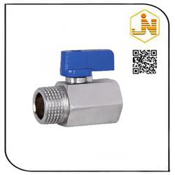 Aluminum handle brass ball valve chrome plated