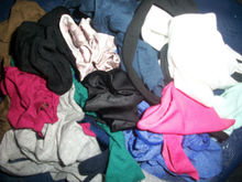 cotton,nylon, fabric and yarn waste