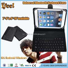 Universal 9-10 Inch Tablet PC Detachable Bluetooth Keyboard Leather Case black color