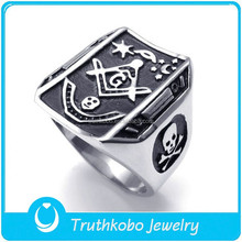 TKB-R0087 Stainless Steel Freemasons Designer Engagement Rings and Things