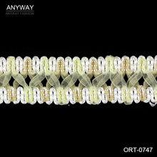 cinta tejido diseño con encaje cruzada