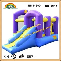 PVC inflatable bouncers, cheap inflatable bouncy castle, inflatable bounce house with basketball hoop