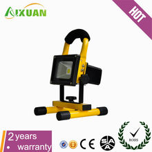AIXUAN 2015 hot sale 10w rechargeable led flood work light with CE ROHS certification made in china