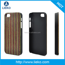 Hybrid Nature wood+PC phone case for iPhone 5