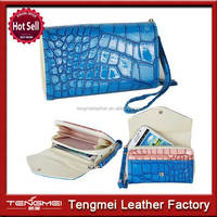Luxury Crocodile Leather S5 Mini Wallet Case With Card Holder