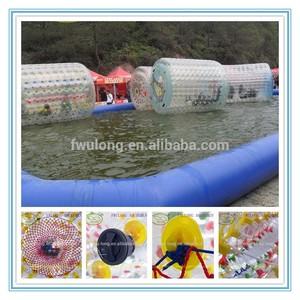 Захватывающие прозрачной надувной горки, пвх надувные ролики, окончательный водные виды спорта на продажу