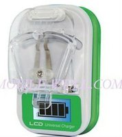 mobile phone universal travel charger with LCD indicator screen