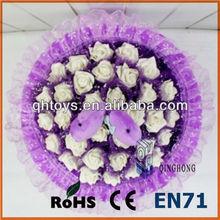 Guangzhou factory plush doll bouquet toy