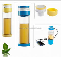 Small Tea Infuser Water Filter Drinking Water Sport Glass Bottle With Sound
