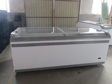 Supermarket Display Freezer/Glass Lid Chest Freezer/Slide Door Chest Freezer Glass Door Cover
