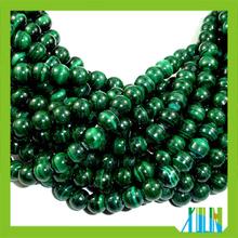 DIY bracelets synthetic malachite stone round beads