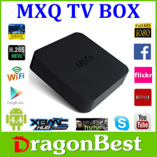 Internet Tv Box MXQ Android Tv Box Core Support H.265 Decoder Format Built-in IEEE 802.11 b/g /n Tv Box