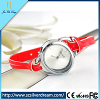 New products 2014 leather band watch ladies small dial fashion watch