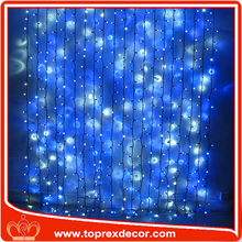 Cheap decorative optic fiber curtain light organza light curtain