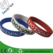 Factory high quality cheap custom silicone wristband for corporate gift printed rubber bracelet