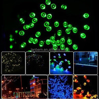 Most popular products 2014 rgb or single color outdoor solar string 10m 100leds battery powered walmart christmas lights