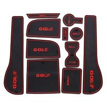 high quality China wholesale cheap car door mats for Volkswagen Golf7(no armrest box) 11pcs/set
