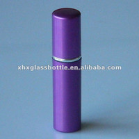 wholesale high quality leak proof travel 5ml 10ml purple colored aluminium atomizer for perfume