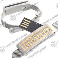 Jewelry diamond gift fingerprint usb flash memory drive 16gb