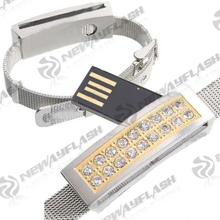 Jewelry diamond gift fingerprint usb flash memory drive 16gb
