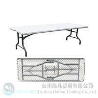 5FT modern design outdoor furniture/strong plastic mini style dinner table/graden furinture tables