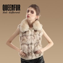 Fashion Genuine Fox Fur Vest Women New Natural Fox Fur Waistcoat Winter Warm Fur Gilet Jacket