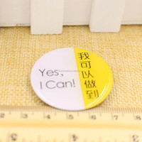 tin button badge round shape printing epoxy metal badge with safety pin