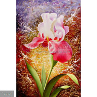 Handpainted Decoration tulips flowers oil painting, Joviality