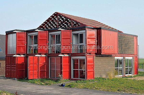 Nouveau design hangar en acier structure de conteneur for Container maison taille