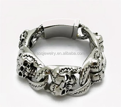 custom alibaba latest top sale man stainless steel bracelet heavy jewelry imported from china