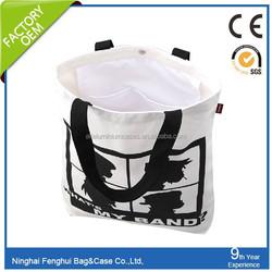 wholesale recyclable standard plain canvas tote cotton bag