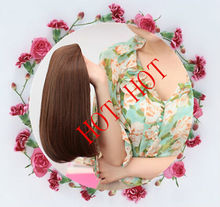 Good quality cheap price wholesale synthetic hair half wig