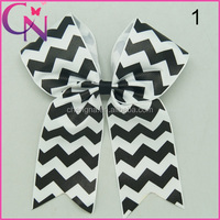 5 Inch Chervon Cheer Bows With Clips For Baby CNHB-1407145-1W