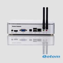 mini cliente fino barato encajado, terminal PC toda junta QOTOM-I255, con el ESPOLÓN de 2G DDR3, ÁTOMO D2550 de la CPU