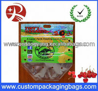 slider ziplock fruit bag with air holes for grape packaging bag