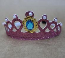 Lovely headband crown plastic crown headband, plastic crown headband