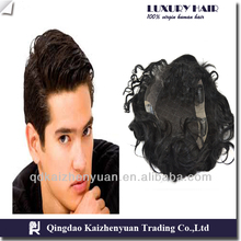 wholesale lace closure 100% human hair lace closure lace toupee 6inches
