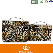 tiger skin adorable 2 pieces makeup case